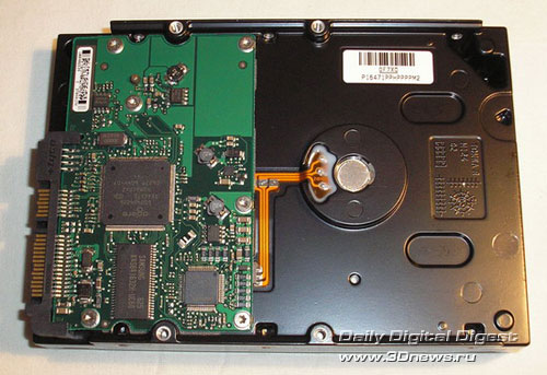 Seagate ST3200820AS вид снизу